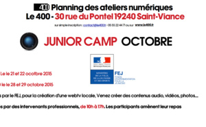 Junior Camp vacances d'octobre 2015
